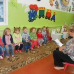 Библиотекарь Ягульского филиала в детском саду